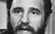 A close up of Fidel Castro