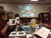 Teachers learning about Plickers!