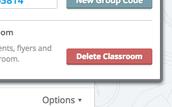 How do I delete a classroom?