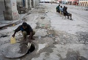 How Haitians are collecting water