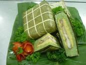 Stuffed sticky rice cake - banh chung