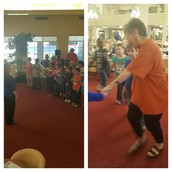 Our Pillow 2nd grade visits a retirement home to sing & square dance with residents!
