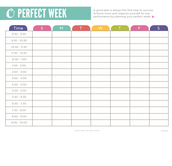 Plan your Perfect Week