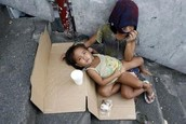 Children have no places for shelter