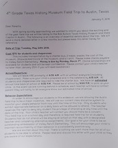 Austin Field Trip (Purple Paper)