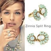 Zinnia Split Ring (NEW, in Box) $24 SOLD