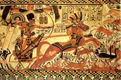 Tutankhamen begins hunting.