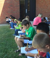 2nd Graders Journaling