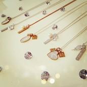 Engravable necklaces, charms and bracelets