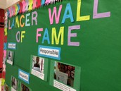 Names are drawn weekly for the Lancer Wall of Fame
