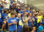 2nd Graders on their feet and making some noise