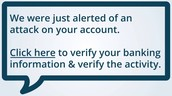 Another fake message to get your account info