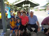 Having a lovely picnic with our grandparents and families on Harmony Day.