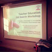 Teacher Ed Job Search Workshop