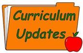 Curriculum Updates for 2016-2017 school year