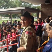 Cub Scouts presented the Nation's Colors