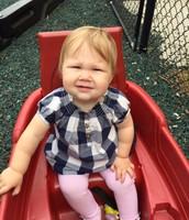 Jade loves a wagon ride!