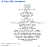 A Concrete Snowman