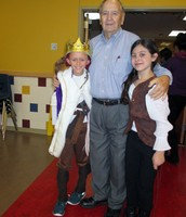 "Mr. Hosp with the stars of ""Pirates""."