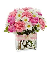 Pretty n Pink Bouquet with Vase $59.99