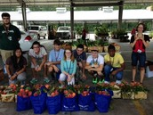 Gators of the Week:  Students in OCP visit the State Farmer's Market for Vegetables