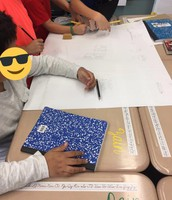 3rd graders working on math