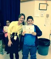 Jesus Cardoza, 4-B, and Ms. Martinez