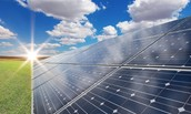 Solar Panels reduce carbon dioxide being used.