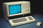 This is the apple lisa and the very first computer with it's own mouse made in 1983.