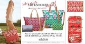 Getaway bag with free hang on mix and match