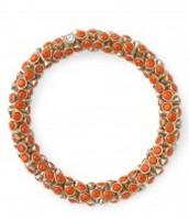Vintage Twist Bracelet in Coral £16 (RRP £32)