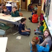 Meeting our new 1st grade reading buddies!