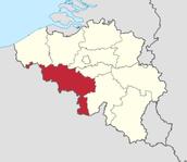 The county of Hainut, Belgium