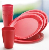 VASO ROJO 525 ML SET X 4  $ 149