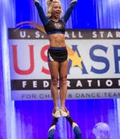 Carly manning doing a coed stunt