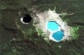 These are the lakes from a bird's eye view.