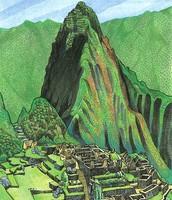 Art inspired by Machu Picchu