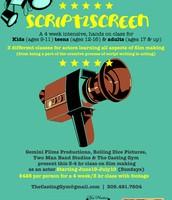 SCRIPT2SCREEN class - film making for young actors