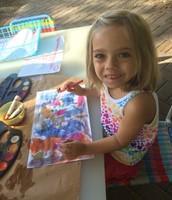 Juliette used bright vibrant colors