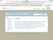 Sample student site for ePortfolio