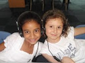 2nd graders in computer lab.
