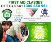40% OFF Spring Special First Aid Course