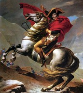 Napoleon on his horse, Marengo
