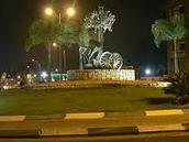 כיכר המועצה בלילה