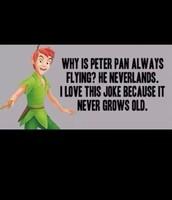 Peter Pan was my favorite movie as a kid