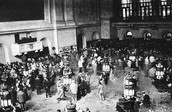The New York Stock Exchange in the 1920s.