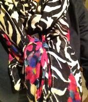 Jeweled Zebra Scarf