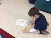 We used dice to help find the sum of two numbers!