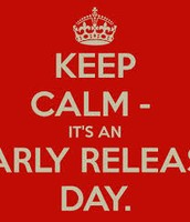 Early Release K-5/Parent conferences - Friday, Oct. 9th