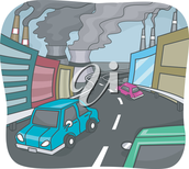 Air pollution and bad chemicals released from cars